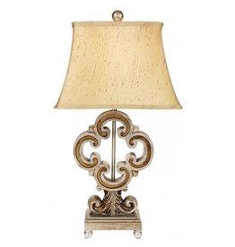 Mark Roberts Stylish Home Decor Quatrofoil Side Table Lamp 25 Inch