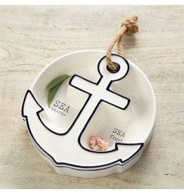 Mud Pie Anchor Section Server w Sea Snacks - Sea Food Sentiments