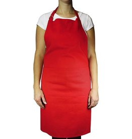 MUkitchen Cotton Twill Chef Apron - Crimson Red