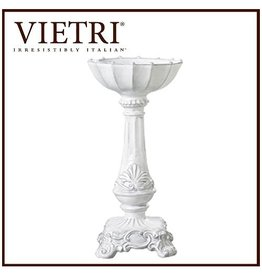 Vietri Incanto Candleholder White Square Footed Medium IND-1171 Vieti