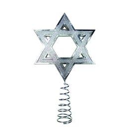 Kurt Adler Silver Hanukkah Tree Topper H0260 Judaic Holiday Decorations