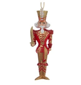Kurt Adler Christmas Ornament Red and Gold Nutcracker Soldier