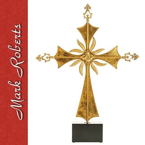 Mark Roberts Christmas Decorations Large Roman Cross On Base 35x25 Inch