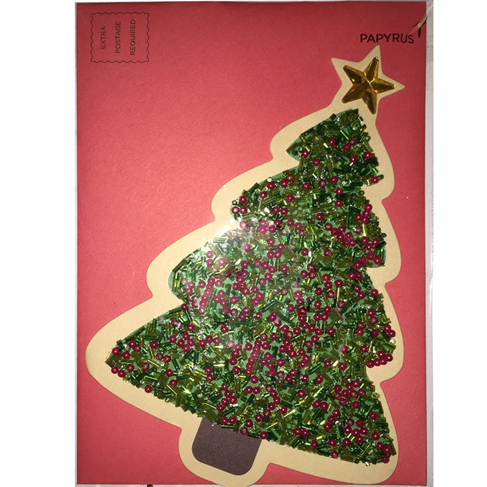Papyrus Christmas Cards.Christmas Card Colorful Gem Tree By Papyrus