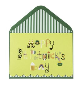 PAPYRUS® St. Patrick's Day Card Dazzling  St. Patty's Lettering