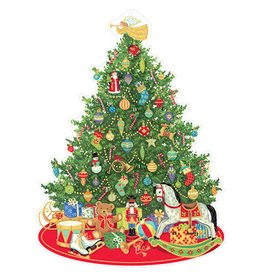 Caspari Advent Calendar Die Cut Oh Christmas Tree Paper Pop Up Advent