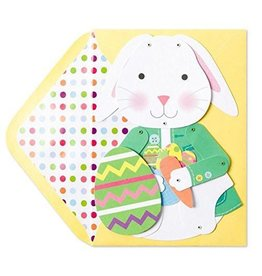 PAPYRUS® Easter Card Articulated Poseable Bunny w Mini Egg Card
