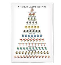 Peking Handicraft Holiday Flour Sack Kitchen Tea Towel A Football Lovers Christmas