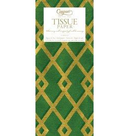Caspari Gift Tissue Paper 88852TIS Trellis Green Gold Tissue Paper