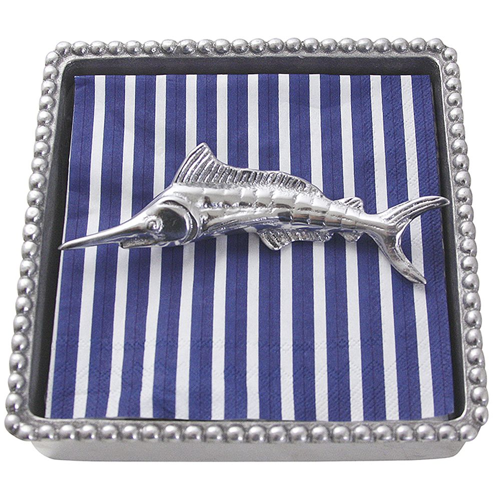 Mariposa Napkin Box Wieght Set 906-C Marlin Beaded Napkin Box