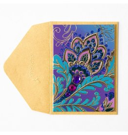 Papyrus Greetings Gift Enclosure Jacobean Floral by Papyrus