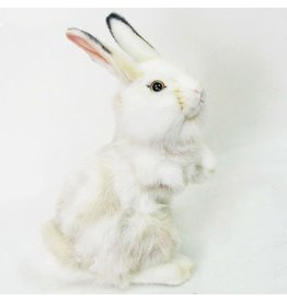 Hansa Toy Hansa Bunny Rabbit White w Grey 12in Plush