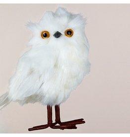 Kurt Adler Christmas Ornament White Owl Bird Hanging Ornament B