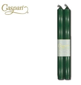 Caspari Candle Tapers Crown 10 inch 2pk  CA13.2 Hunter Green