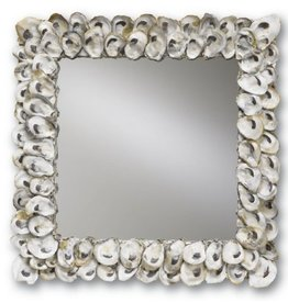 Currey and Company Mirror Square Oyster Shell Mirror