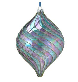Kurt Adler Venetian Style Glass Multi-Color Finial Ornament