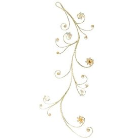 Mark Roberts Christmas Decorations Sparkling Gold Curl Garland 47 inch