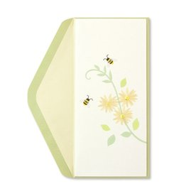 Papyrus Greetings Get Well Card Bees and Yellow Flowers by Papyrus