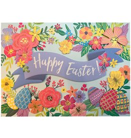 PAPYRUS® Easter Card w Happy Easter Floral Banner