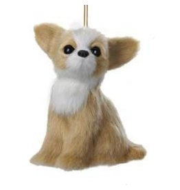 Kurt Adler Christmas Ornament Plush Dog Chihuahua 4 inch