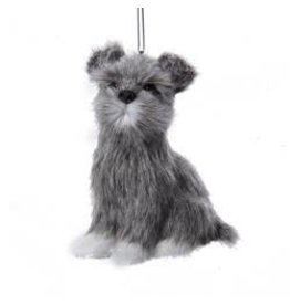 Kurt Adler Christmas Ornament Plush Dog Schnauzer 3.5 inch