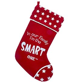 Kurt Adler Christmas Stocking In Our Family I'm the Smart One - D