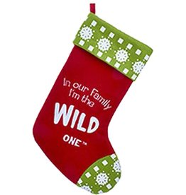 Kurt Adler Christmas Stocking In Our Family I'm the Wild One - C