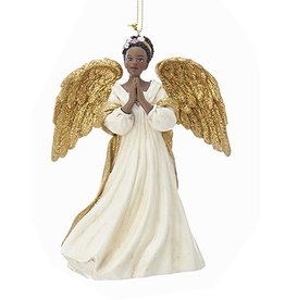 Kurt Adler Black American Angel Ornament -B Praying