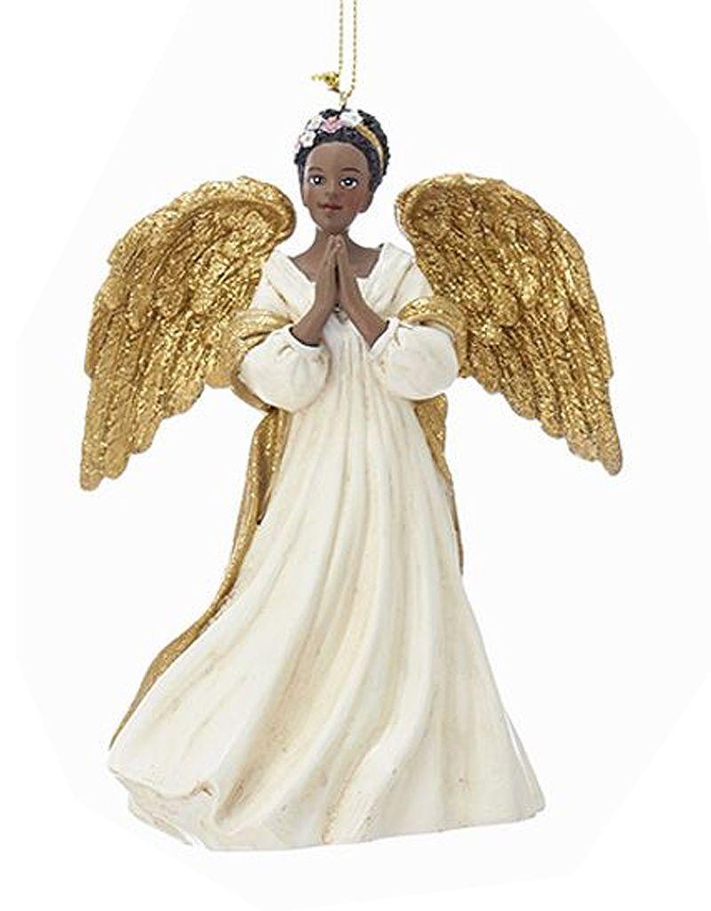 African American Black Angel Ornament -B Praying