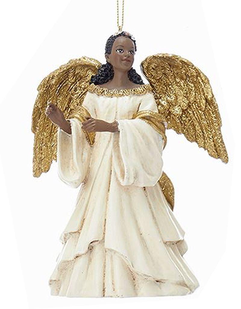 African American Black Angel Ornament -A