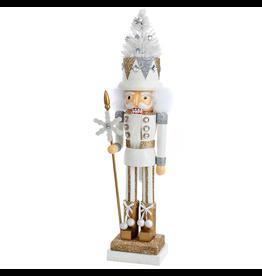 Kurt Adler Hollywood Soldier Nutcracker w White Christmas Tree Hat -C