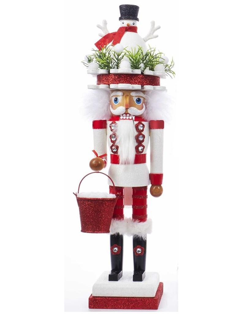 Christmas Nutcracker.Kurt Adler Hollywood Christmas Nutcracker 18 Inch W Snowman Hat