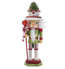 Kurt Adler Christmas Hollywood Nutcracker W Candy Hat 10 inch