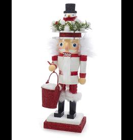 Kurt Adler Christmas Hollywood Nutcracker W Snowman Hat 10 inch