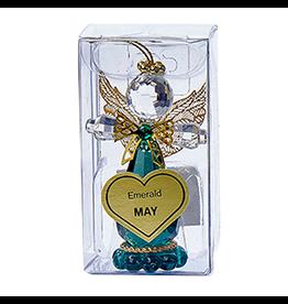 Kurt Adler Acrylic Birthstone Angel Ornament MAY Emerald