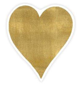 Caspari Ornament Gift Tags 2pk Hearts Gold Foil