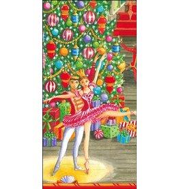 Caspari Paper Facial Tissues Christmas Ballet Hankies 13430M