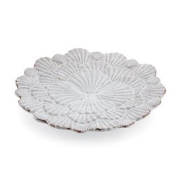 Mud Pie Coastal Dinnerware 105122 Shell Desert Plate