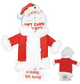 DM Merchandising Santa Suit Holiday Gift Card Holder