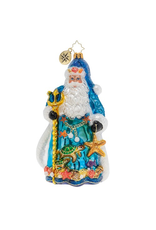 Christopher Radko Seas The Day Santa Christmas Ornament