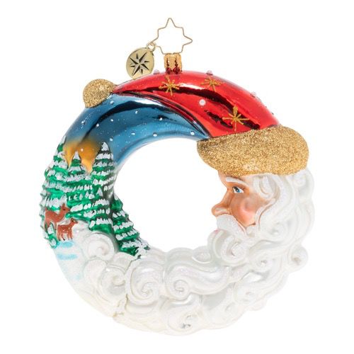 Christopher Radko Santas Silent Night Wreath Christmas Ornament
