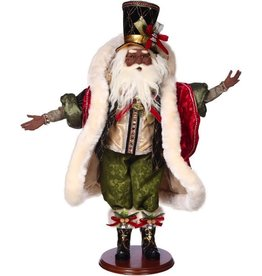 Mark Roberts Fairies Black American Black Santa On The Town Figure 28 Inches