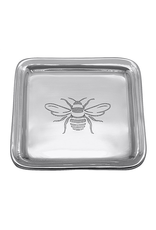 Mariposa Engraved Honey Bee Trinket Dish - Post it Note Holder Tray