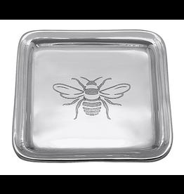 Mariposa Engraved Honey Bee Trinket Dish - Post it Note Holder Tray