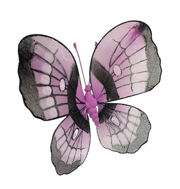 Premier Butterfly Decoration 9 Inch Purple Nylon w Wire Frame