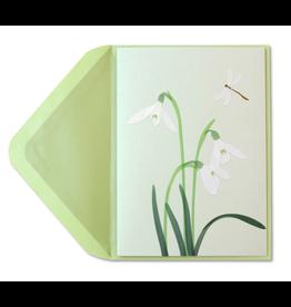 PAPYRUS® Sympathy Card White Crocus Vellum Sculpture