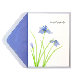 PAPYRUS® Sympathy Card Purple Irises
