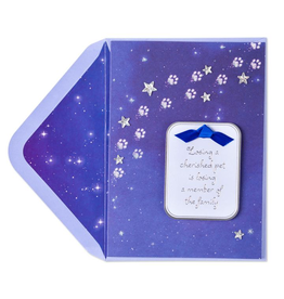 PAPYRUS® Pet Sympathy Card Paw Prints in Starry Night Sky