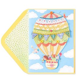 PAPYRUS® New Baby Card Critters In Hot Air Balloon