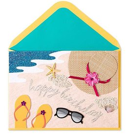 PAPYRUS® Birthday Card Beach Scene